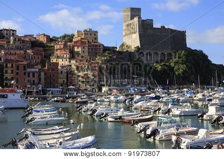 Harbor And Old Town Of Lerici