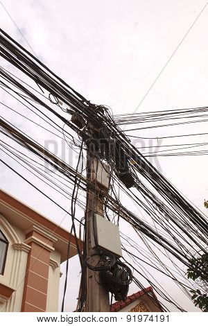 Busy Utility Pole