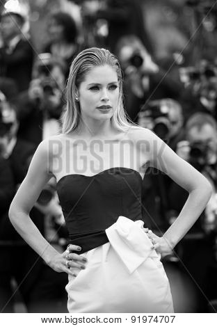 Doutzen Kroes attends the 'Sicario' premiere during the 68th annual Cannes Film Festival on May 19, 2015 in Cannes, France.