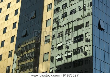 Buildings Reflected In Other Buildings
