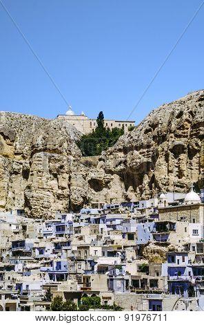 Maloula Or Maalula, Christian Village In The Rif Dimash, Syria