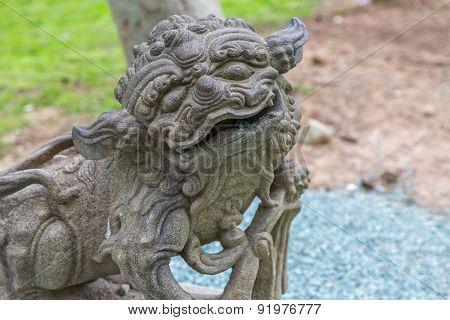 Stone dragon face