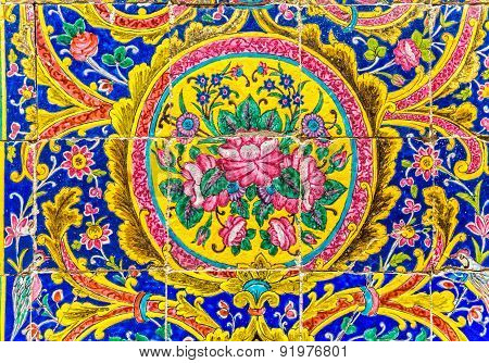 Golestan Palace tiles detail