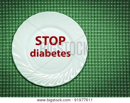 Stop diabetes. Concept photo