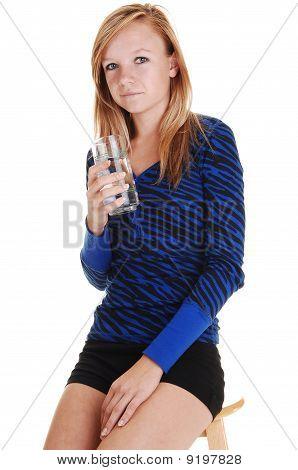 Girl Drinking Water.