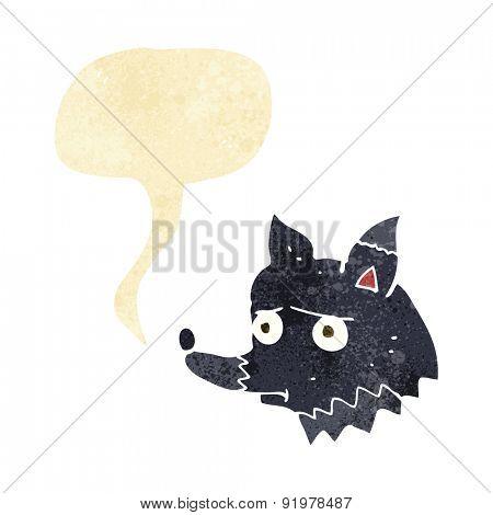 cartoon worried wolf