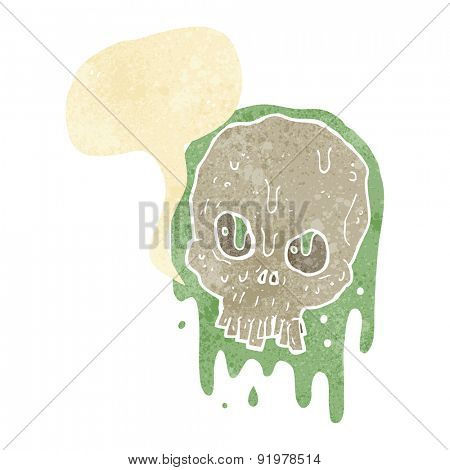 cartoon gross slimy skull