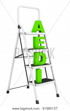Extreme Closeup Ladder With Idea Sign