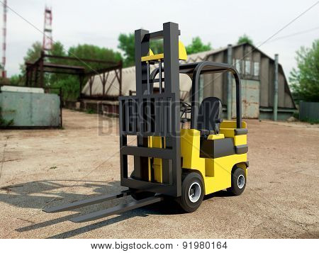 Forklift Truck With Free Shipping Box