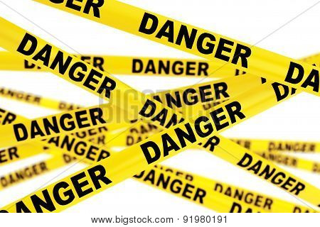 Danger Yellow Tape Strips