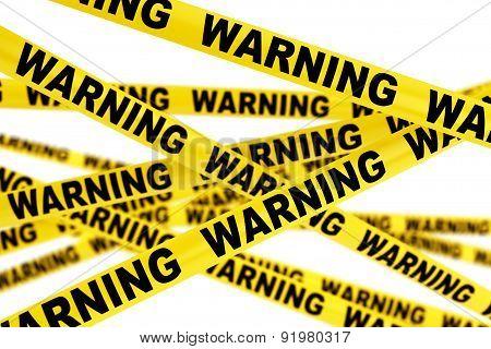 Warning Yellow Tape Strips