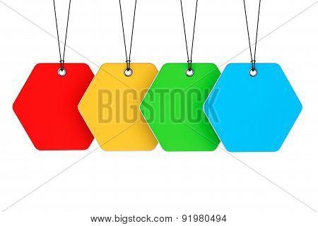 Multicoloured Blank Tags