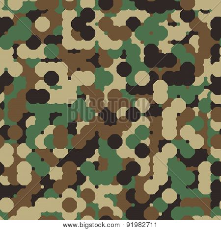 Abstract Seamless  Military Camouflage Background