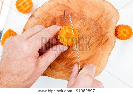 Cutting A Carrot