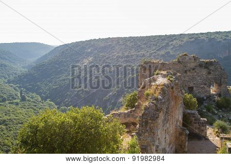 Montfort (shtarkenberg) Is A Ruined Crusader Castle . Israel.