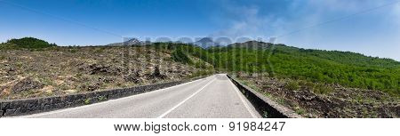 Panorama of mount Etna national park in Sicily