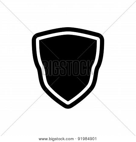 The Shield Icon. Shield Symbol. Flat