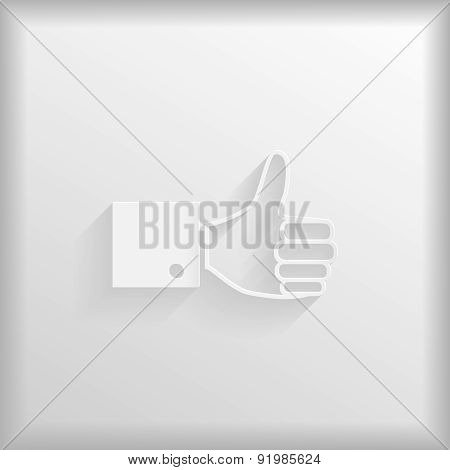 Paper Thumb Up Icon