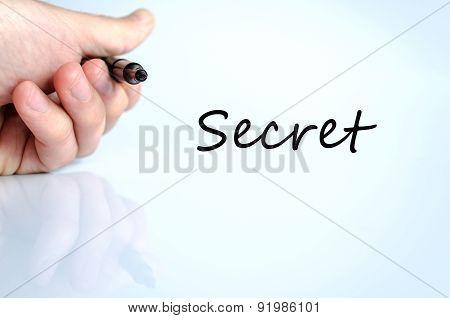 Secret Text Concept