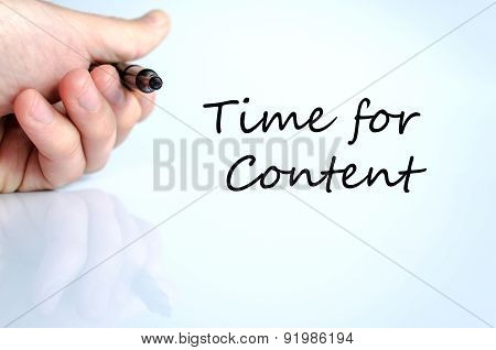Time For Content Concept