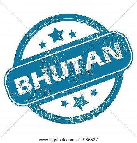 BHUTAN round stamp