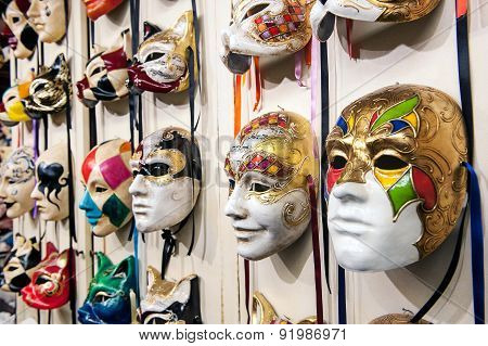 Venice Masks Hanging