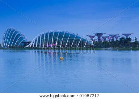 Waterfront view of Gardens by the Bay
