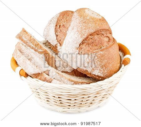 Sliced Bread In Basket