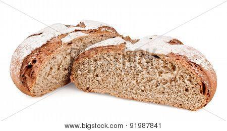 Rye Bread Cut In Half