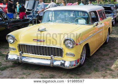 Chevrolet Bel Air Wagon Car On Display