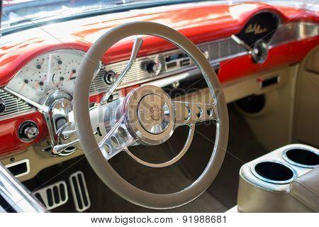 Chevrolet Bel Air Wagon Car Detail On Display