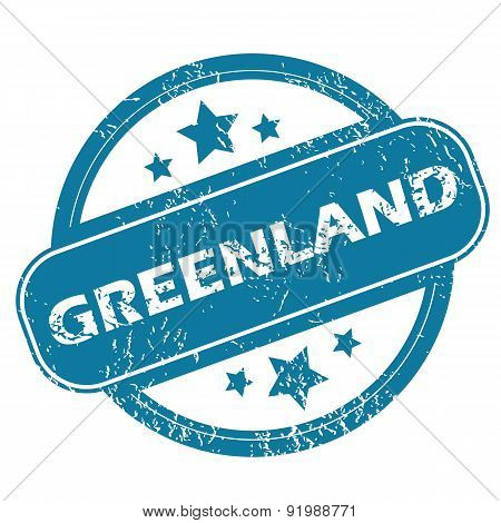 GREENLAND round stamp