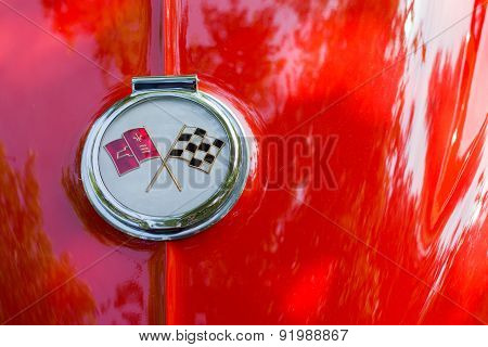 Chevrolet Corvette Crossed Flags Logo