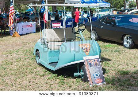 Walt Disney Marketeer Golf Cart On Display