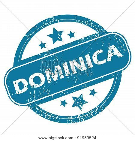 DOMINICA round stamp