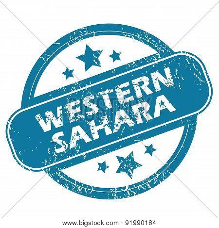 WESTERN SAHARA round stamp