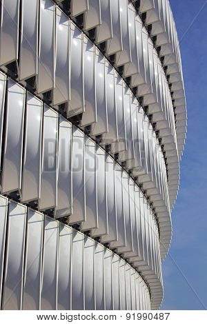 BILBAO, SPAIN - MAY 28 2015:  Detailed view of San Mames, Athletic Club football team home stadium.