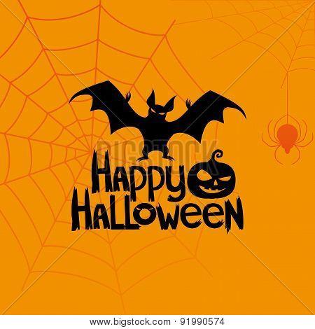 Vector banner. Happy Halloween.