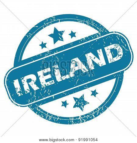 IRELAND round stamp