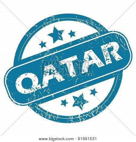 QATAR round stamp