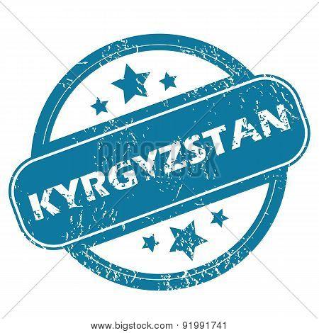 KYRGYZSTAN round stamp