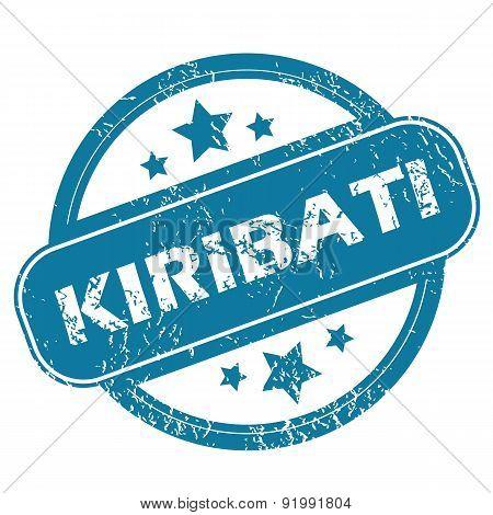 KIRIBATI round stamp