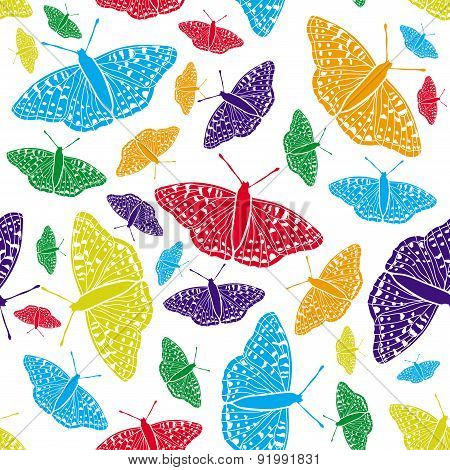 Vector seamless background. Butterfly.