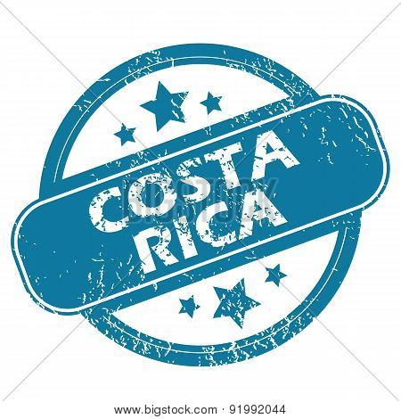 COSTA RICA round stamp