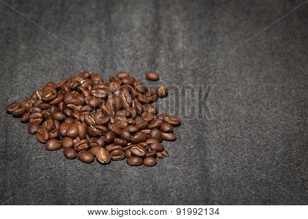 Coffee beans on stone