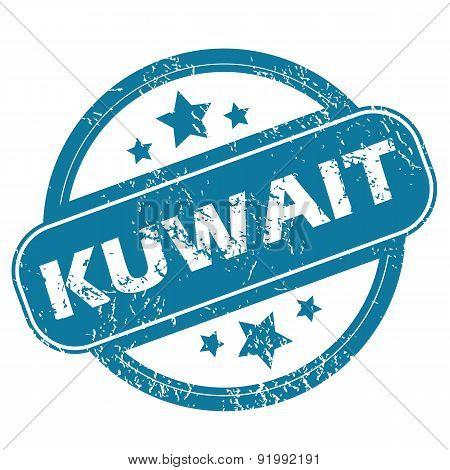 KUWAIT round stamp
