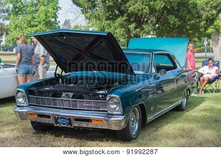Chevrolet Chevy Ii Ss Car On Display
