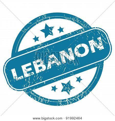 LEBANON round stamp