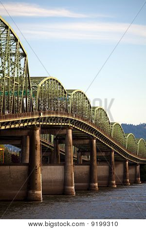 Old Interstate Bridge In Oregon