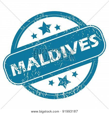 MALDIVES round stamp